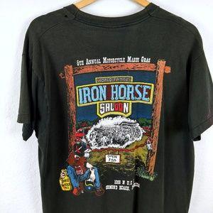 Vtg 1993 Iron Horse Saloon Biker Motorcycle Tshirt